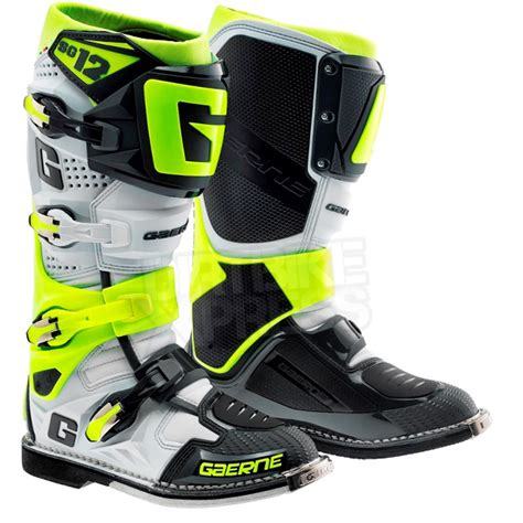 Gaerne Sg12 Motocross Boots Limited Edition Grey Fluo