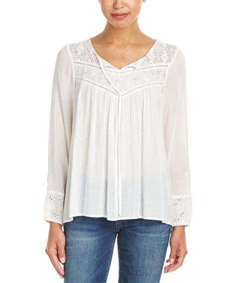 Blouse Button 115 peasant blouses lace henley blouse