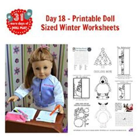 Baby Dress Schooltime free doll sized school work sheets and coloring pages