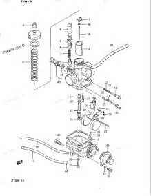 Suzuki Lt185 Parts Suzuki Atv Parts 1984 Lt185 Carburetor Diagram