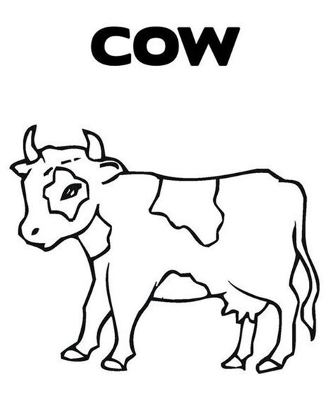 cow farm coloring page c cow coloring pages coloring home