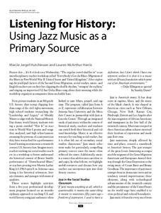 jazz music lesson plans worksheets lesson planet