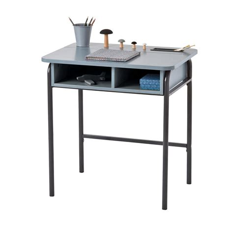 bureau gris anthracite bureau 233 colier style r 233 tro gris anthracite the d 233 co