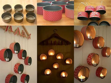 Balloonable Tea Light Candle Lilin Romantis Tin Can Wrapping Paper Scraps Seasonal Candle Holder Fabdiy