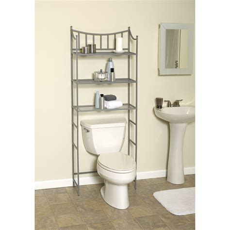 bathroom the toilet shelves shelves the toilet as the additional storage for