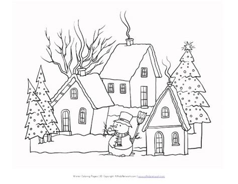 free coloring pages winter scenes free coloring pages of winter scene