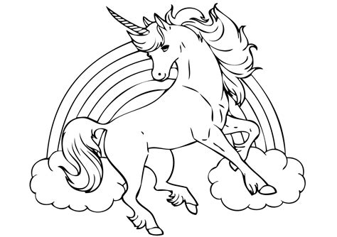 unicorn with rainbow coloring page unicorn coloring pages coloring rocks