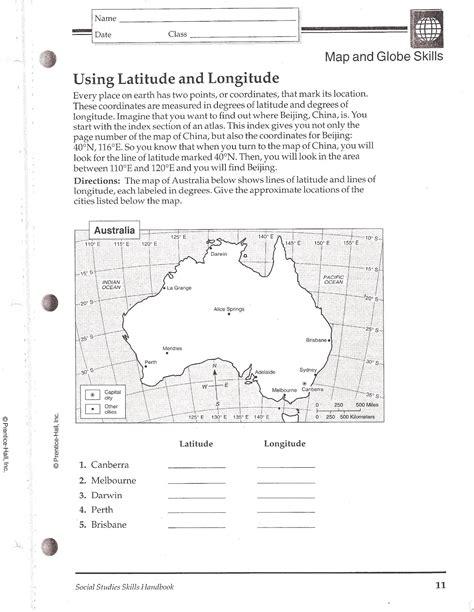 latitude and longitude worksheets for 6th grade social studies skills mr proehl s social studies class