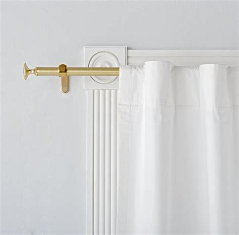 small curtain rods single gold curtain rod the land of nod