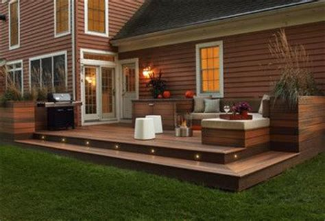 modern budget deck decking material options recycled materials lighting