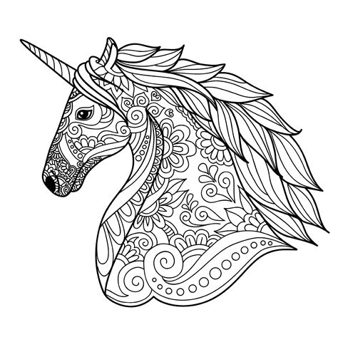 coloring pages unicorn head unicorn head simple unicorns coloring pages for adults