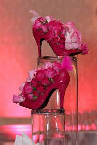 High Heel Shoe Table Decorations by Pink High Heel Floral Centerpieces Bridal Shower Shoes Centerpieces And