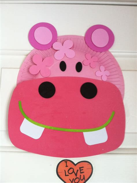 Hippo Paper Plate Craft - hippo craft knutselidee 235 n hippo crafts and