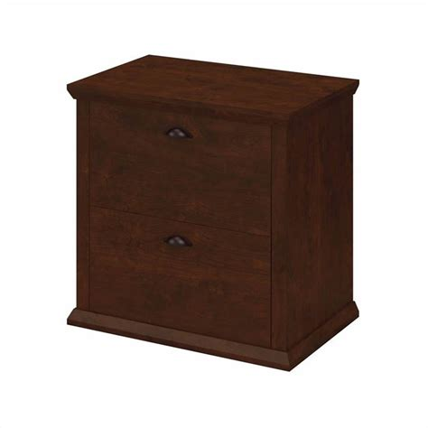 Lateral File Cabinet Cherry Bush Yorktown 2 Drawer Lateral File Cabinet In Antique Cherry Wc40380 03