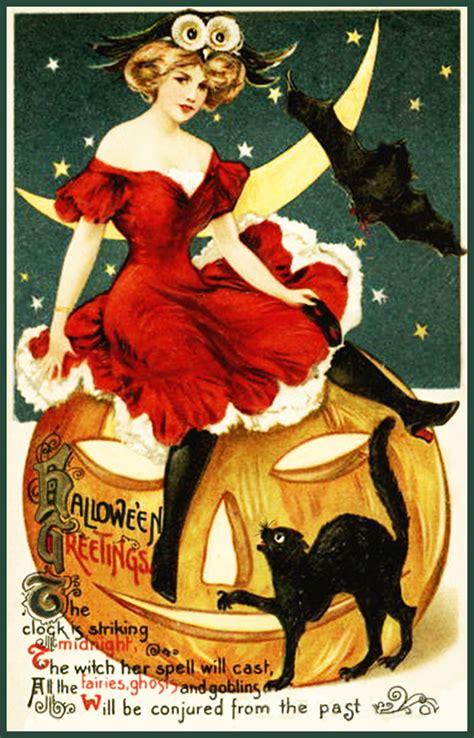 printable halloween vintage postcards vintage halloween postcards and halloween poems free