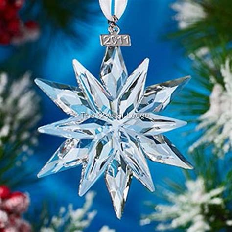 swarovski swarovski 2011 christmas ornament clear large