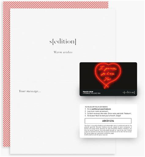 Sending A Gift Card Via Email - sedition limited edition art for your digital life