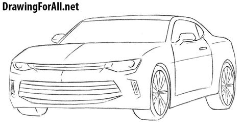 How To Draw A Chevrolet Camaro how to draw a chevrolet camaro drawingforall net