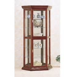 Curio Cabinets Solid Wood Curio Cabinets Solid Wood Curio Cabinet In Cherry 3390 Co