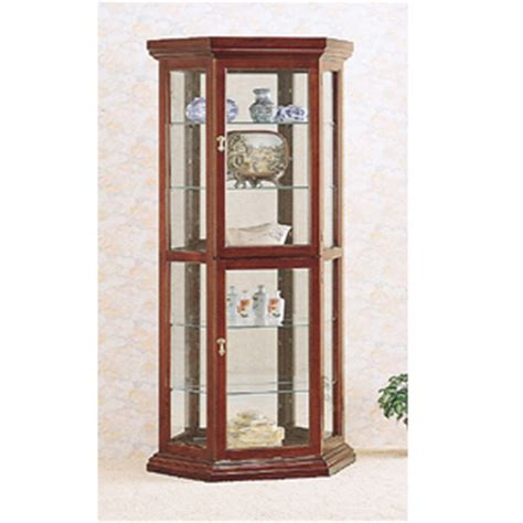cherry wood curio curio cabinets solid wood curio in cherry 3390 co