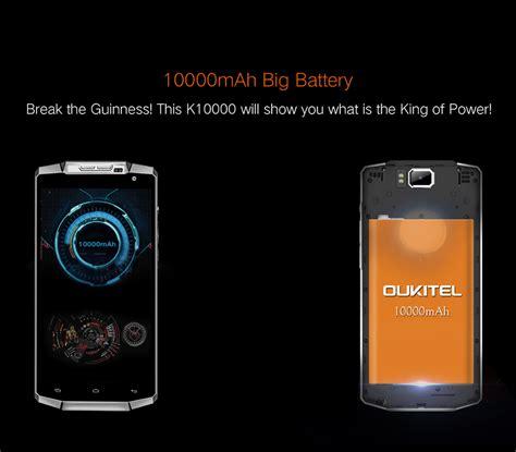 oukitel k10000 10000mah battery 5 5 inch mt6735p 1 0ghz