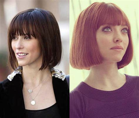 blunt cut hairstyles with bangs classy blunt bob hairstyles with bangs hairdrome com