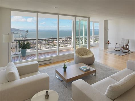 Modern Condo Living Room Design by Green Condo Modern Living Room San Francisco