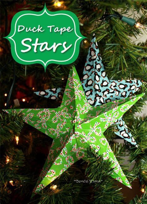 christmas pattern duct tape how to make duck tape stars crafts ducks and money