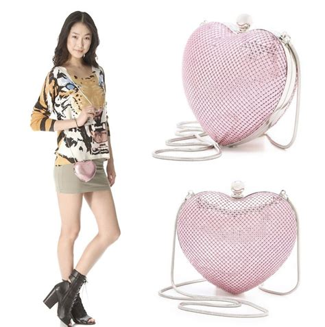 Bag Bliss Hearts The Fendi Letter Clutch by Whiting Davis Quot Charity Quot Clutch Proceeds Cancer