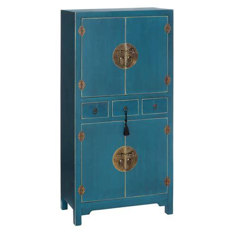 armario chino armario chino oriental 4 puertas azul ix90957 nuryba