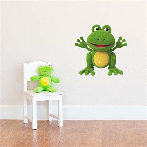 frog wall stickers 3d plush frog printed wall decal