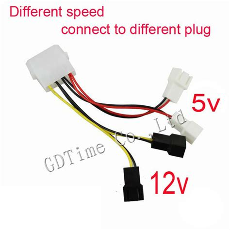 pc fan y adapter 10pcs lot computer multi connector 12v 4pin male to 12v 5v