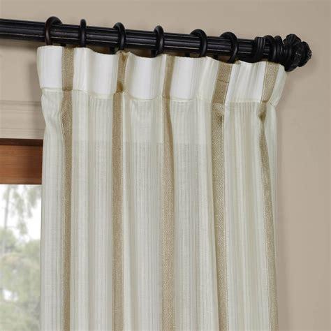 buy antigua gold striped linen sheer curtain drapes
