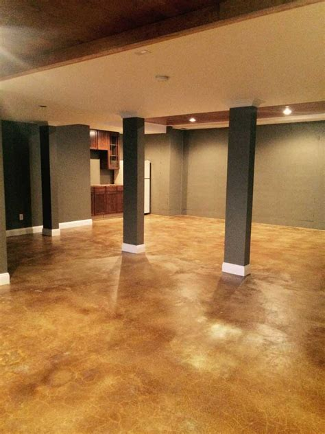 stain basement floor acid stain basement remodel directcolors basement flooring basements and stains