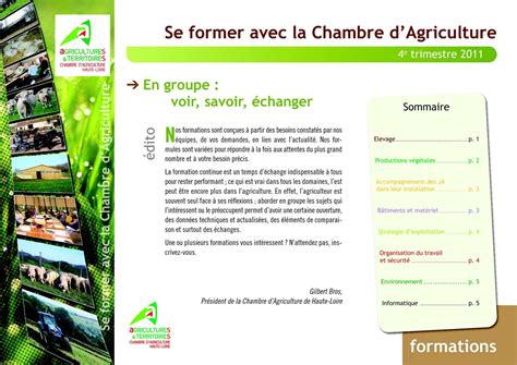 chambre agriculture 84 calam 233 o catalogue formations fin 2011 et d 233 but 2012 224