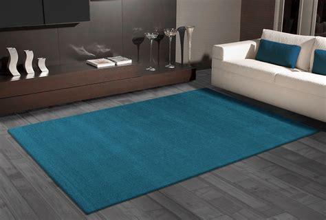 kurzflor teppich blau teppich uni flat blau 287