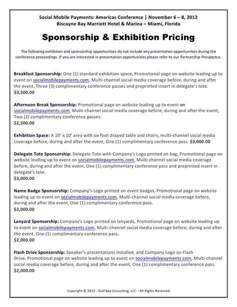 Sponsorship Letter Sle For Exhibition Exhibition Sponsorship Opportunities