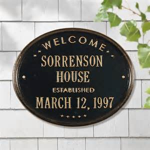 home address plaques whitehall products 1390 personalized welcome oval quot house