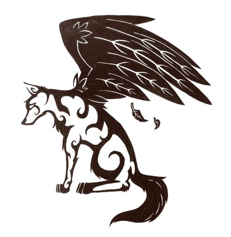how to draw a wolf tattoo wolf tattoo step by step winged wolf tattoo design by twodeeweaver on deviantart
