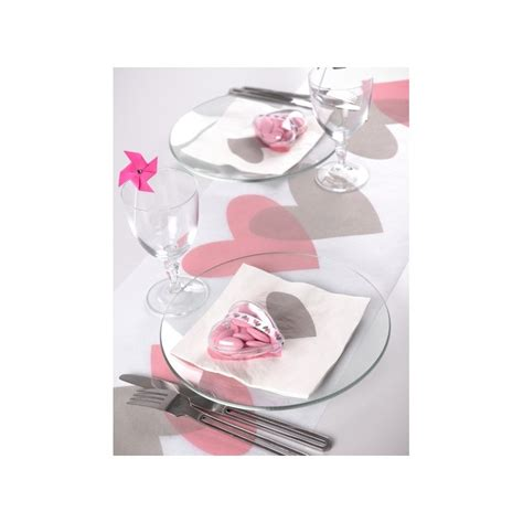 Chemin De Table Blanc Et Gris by Chemin De Table Coeur Coeur Gris Intiss 233 Blanc 5 M