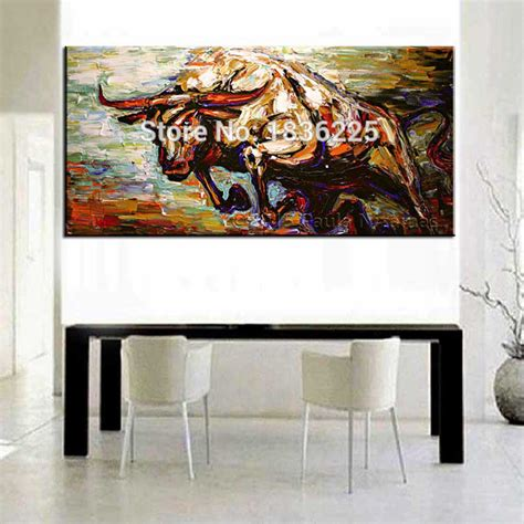 high skills artist 100 painted abstract bull