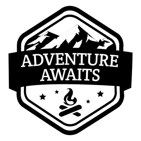 adventure awaits travel emblem transparent png svg
