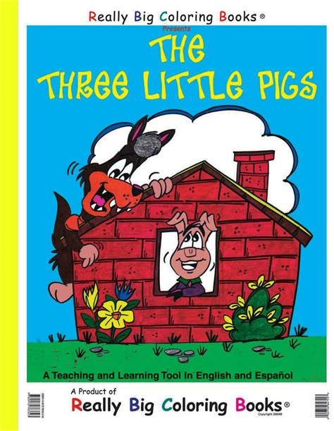 three pigs picture book coloring books the three pigs coloring book