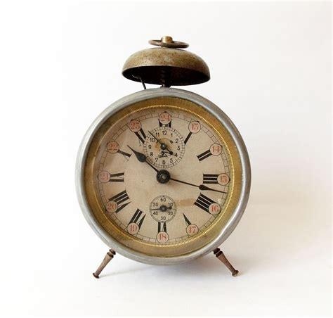 antique  alarm clock germany vintage  desk table