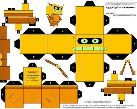 Futurama Papercraft - 7 best images about cubos futuramas on