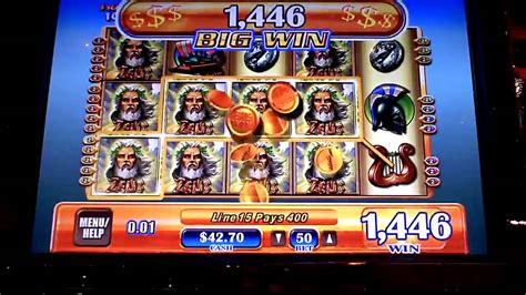 penny slot machines zeus winning line hit on penny slot machine youtube
