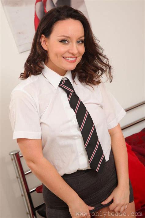 Carla Brown Strips Off Her Uniform