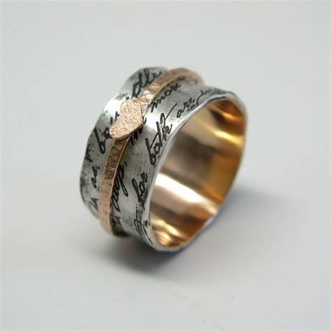 Handmade Ring - handmade juliet spinner ring by janice jewelry