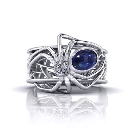 sapphire spider ring jewelry designs