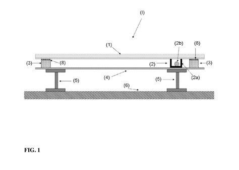 glass floor section patent us20120297713 illuminated hallway floor assembly